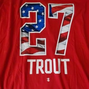 BRAND NEW MIKE TROUT USA T SHIRT